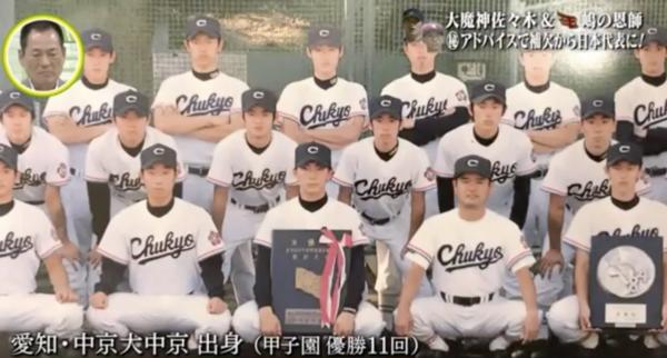 中京大中京高校時代の嶋選手