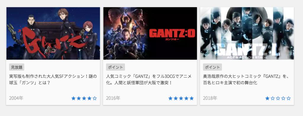 アニメ『GANTZ(ガンツ)』を無料で全巻読めるのはU-NEXT!