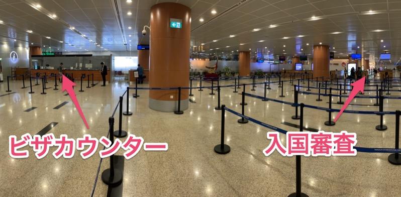 ヤンゴン国際空港の入国審査