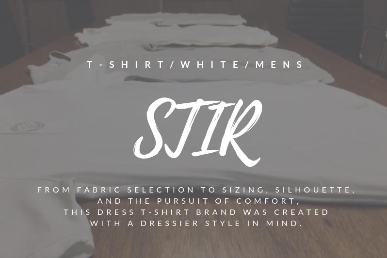 【最強のメンズ白T】万能すぎるSTIRのドレスTシャツに一目惚れしました【1着1万円の高級品】